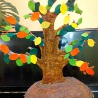 Мастер-класс «Изготовление поделки «Дерево» для младших дошкольников» из картона и фетра. Изучение времен года