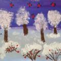 Нетрадиционная техника рисования «Зима»