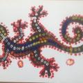 Конспект нетрадиционного занятия «Ящерка» в технике пуантилизм. Рисуем животных Африки