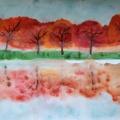 Конспект занятия в технике монотипия пейзажная «Отражение деревьев в озере»