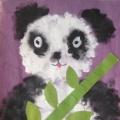 Конспект занятия по рисованию поролоновой губкой «Медвежонок Панда»