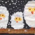 Конспект занятия по рисованию в нетрадиционной технике «Полярная сова»