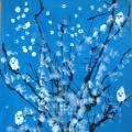 Конспект занятия по рисованию в смешанной технике «Зимние деревья»