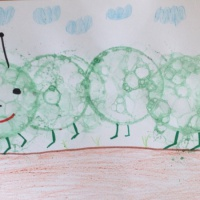 Конспект занятия по нетрадиционному рисованию «Гусеничка»