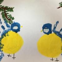 Конспект занятия по нетрадиционному рисованию «Птички невелички— жёлтые синички»