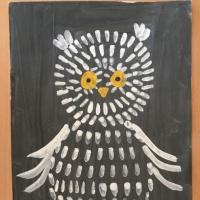 Детский мастер-класс по рисованию «Белая сова»