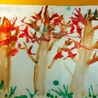 Конспект занятия по нетрадиционному рисованию методом раздувания краски «Осенние мотивы» в подготовительной группе