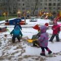 Прогулка под первым снегом в первой ранней группе (фотоотчет)