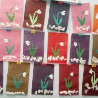 Аппликация «Первые весенние цветы-подснежники»