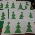 Аппликация «Праздничная елка» (вторая младшая группа)