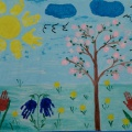Конспект НОД по нетрадиционному рисованию «Весеннее настроение» в средней группе