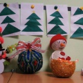 Фотоотчет «Творческий конкурс-выставка зимних поделок «Парад снеговиков»
