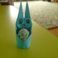 Мастер-класс «Подставка для пасхальных яиц— заяц в технике оригами»