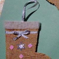 Мастер-класс «Новогодний сувенир из мешковины»
