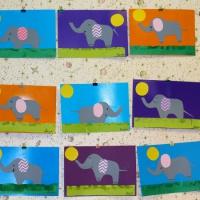 Аппликация «Веселые слоны»