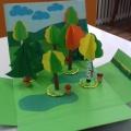 Мастер-класс «Использование объемной аппликации в изготовлении декораций для настольного экологического театра»