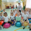 Конспект НОД по физической культуре для детей 5–6 лет. Фитбол-гимнастика