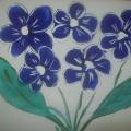 Фотоотчет о выставке детских рисунков «Цветы для наших мам».