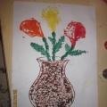 Мастер-класс для педагогов и родителей по нетрадиционному рисованию «Цветочные фантазии»