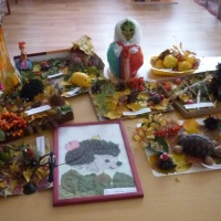 Фотоотчёт о совместном творчестве детей и родителей из природного материала. Выставка «Дары природы»