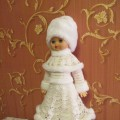 Костюм для куклы «Снегурочка»