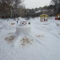 Зимнее оформление нашего участка