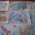 Фотоотчет. Рисование «Космическое путешествие»