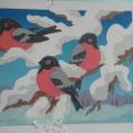 Творческие работы детей «Снегири прилетели» Фотоотчет