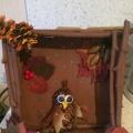 Мастер-класс по созданию поделки из природного материала «Совенок в дупле»