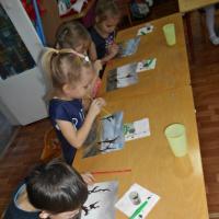 Фотоотчёт об открытом занятии по нетрадиционному рисованию