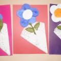 Мастер-класс по аппликации из ватных дисков «Цветок в подарок маме»