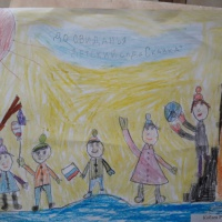 Фотоотчет о выставке детских рисунков «До свиданья, детский сад»