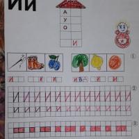 Конспект занятия по обучению грамоте «Звук [И] и буква И»