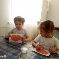 Фотоотчет занятия по тестопластике «Валентинка для мамы»