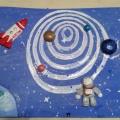 Мастер-класс по изготовлению панно «Полет в космос»