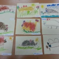 Кружок «Весёлая анималистика». Фотоотчет занятий по лепке и нетрадиционному рисованию в детском саду