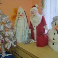 Фотоотчет «Делаем новогодних кукол своими руками»