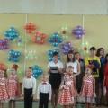 Выступление-приветствие воспитанников ДОО 1 сентября на школьной линейке