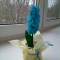 Объемный цветок «Гиацинт» в подарок маме. Мастер-класс