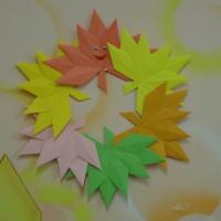 Мастер-класс «Осенний веночек в технике оригами» (подготовительная группа)