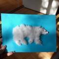 Аппликация из ваты «Белый Мишка» во второй младшей группе «Малышок»