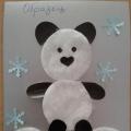 Аппликация из ватных дисков «Медвежонок панда»