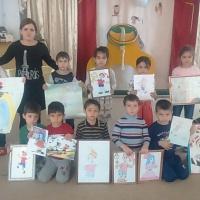 Фотоотчет «Сотворчество взрослых и детей. Конкурс рисунков к сказке «Буратино» в подготовительной к школе группе»