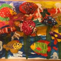 Фотоотчет о творческой деятельности воспитанников семейного детского сада в рамках проекта «Рыбы»