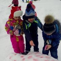Фотоотчет «Рисование на снегу»