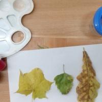 «Осенние листья». Конспект занятия по рисованию в технике отпечатка листьями в рамках тематической недели «Осень»
