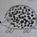 Нетрадиционная техника рисования ватными палочками «Колючий ежик»