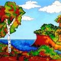 Мастер-класс по созданию витража «Осенний пейзаж»