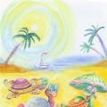 Конспект занятия по лепке с использованием природного материала «Черепашки на острове»