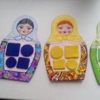 Дидактическое пособие «Разноцветные матрешки»